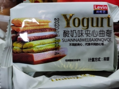 利维恩酸奶味夹心曲奇500g/袋 袋